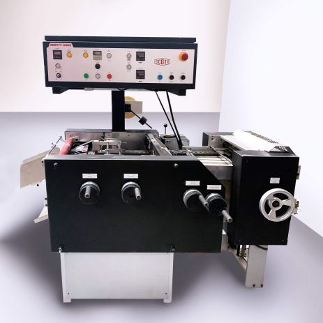 Scotty 5000 tab machine at Printing Unlimited print shop