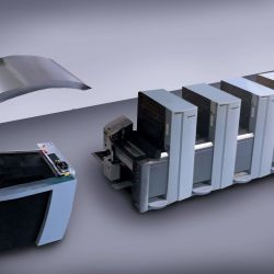 Heidelberg SM 52 offset printing press at Printing Unlimited print shop