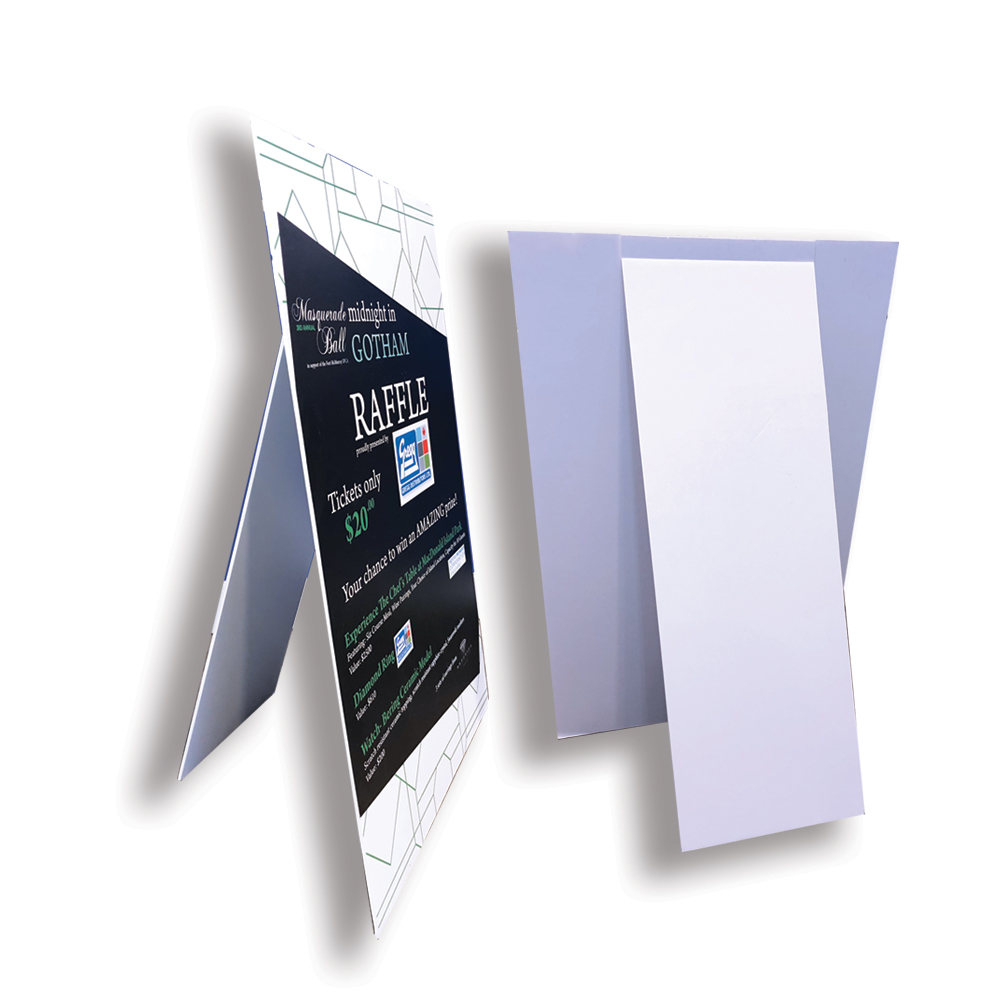 Wide format printing example of a foamboard sign