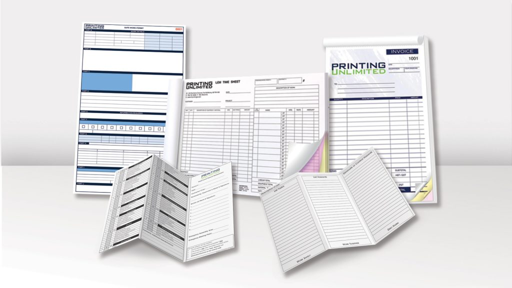 Five examples of offset printing projects at Printing Unlimited